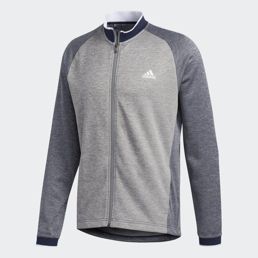 ADIDAS MIDWEIGHT FULL ZIP GOLF MID LAYER ADIDAS MENS MID LAYER ADIDAS