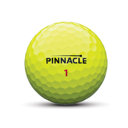 PINNACLE RUSH YELLOW GOLF BALLS 15PK PINNACLE BALLS ACUSHNET