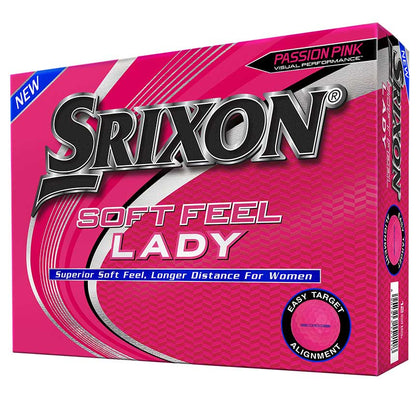 Srixon Ladies Soft Feel Womens Pink Golf Balls 12pk SRIXON BALLS SRIXON