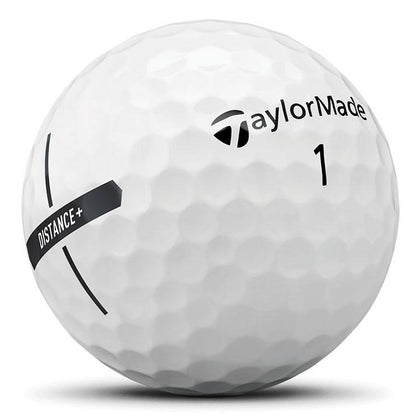 TaylorMade Distance+ White Golf Balls 12pk TAYLORMADE BALLS TAYLORMADE