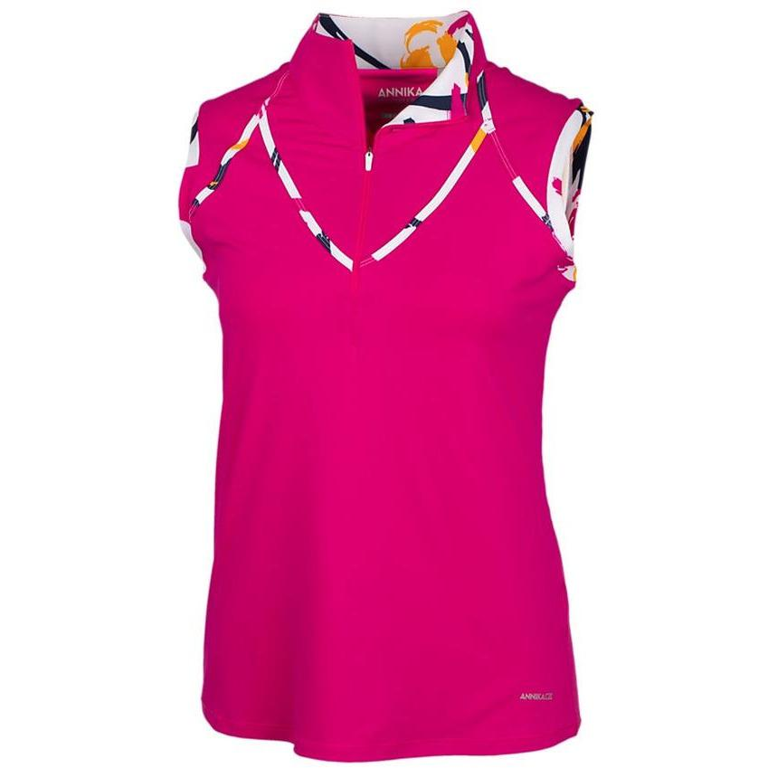 ANNIKA AMBITION SLEEVELESS CONTOUR GOLF MOCK ANNIKA LADIES POLOS ANNIKA