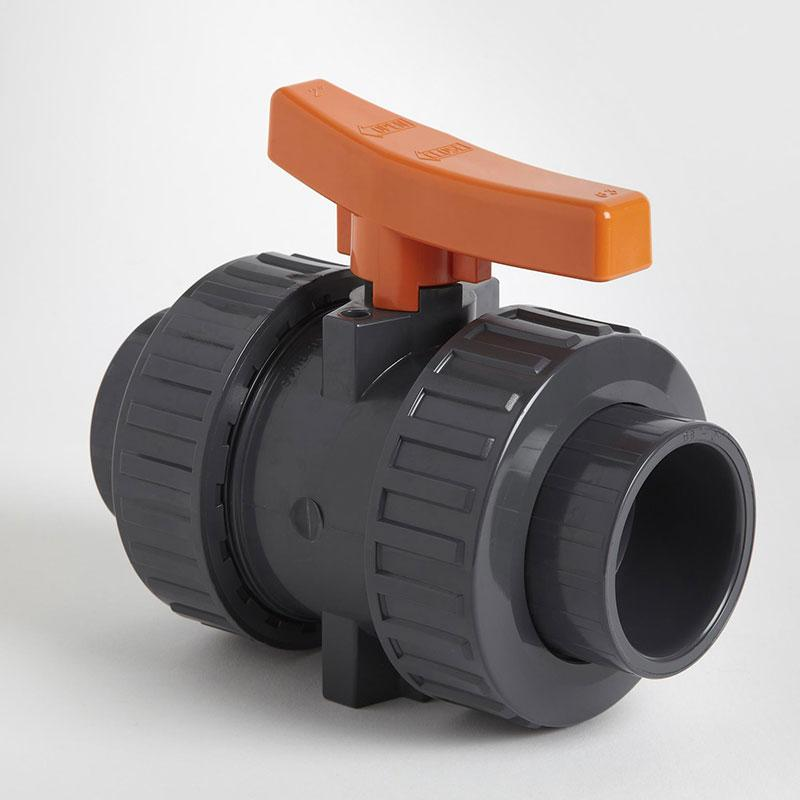 PVC Double Union Metric Industrial Ball Valve