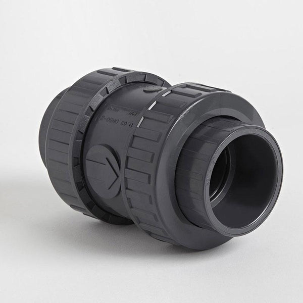 PVC Double Union Metric Spring Check Valve | Plastic Pipe Valves