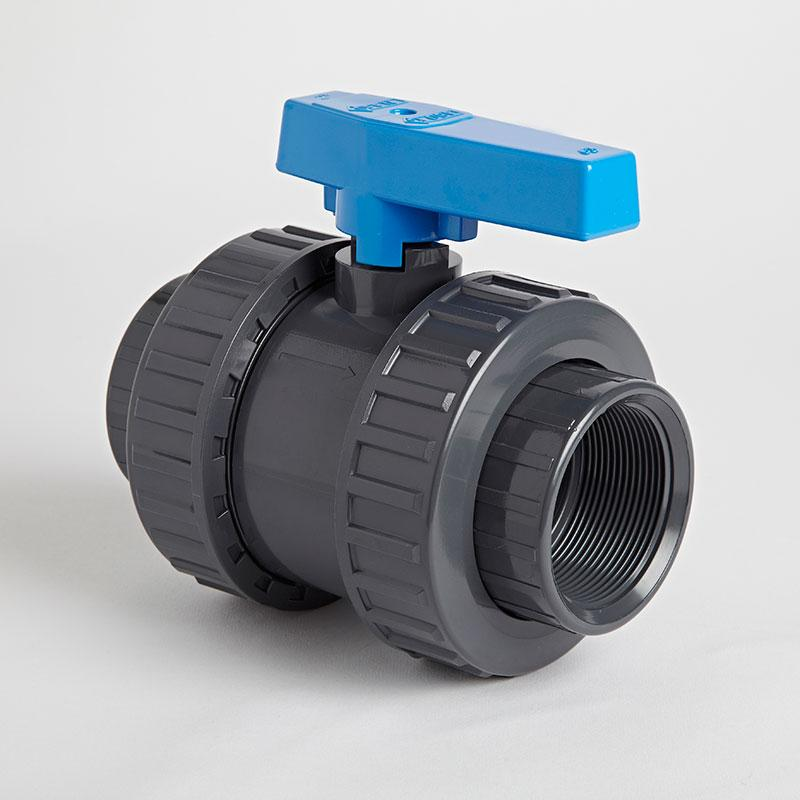 PVC Double Union Inch Standard Ball Valve