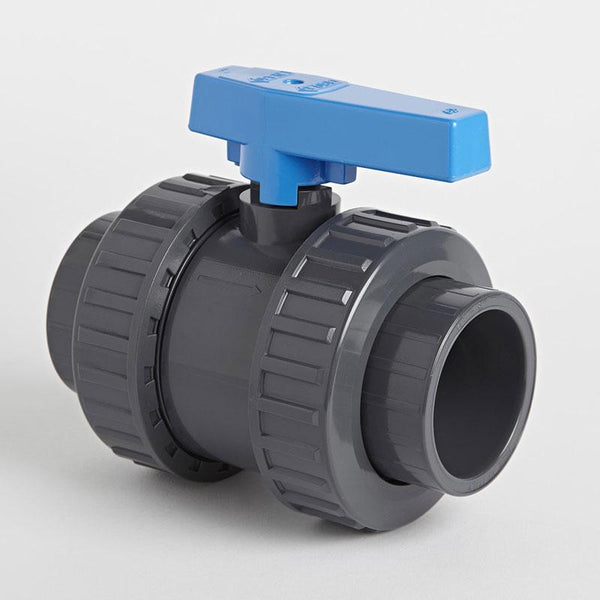 PVC Double Union Metric Standard Ball Valve | Plastic Pipe Valves