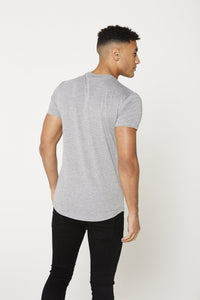flash-price - Seek Mens 'Central' T Shirt - Grey - Seek - Tops