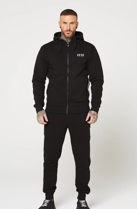 DUNBAR Full Zip Through Tracksuit - Black