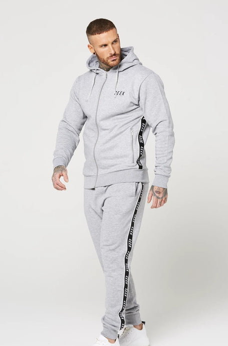 DUNBAR Full Zip Through Tracksuit - Grey