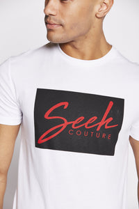flash-price - Seek Mens 'Box' T Shirt - White - Seek - Tops