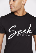 Load image into Gallery viewer, flash-price - Seek Mens 'Script' T Shirt - Black - Seek - Tops