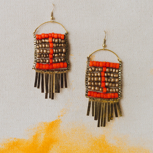 WORLDFINDS RED EARRINGS