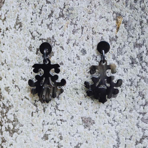 HORN CHANDELIER EARRINGS