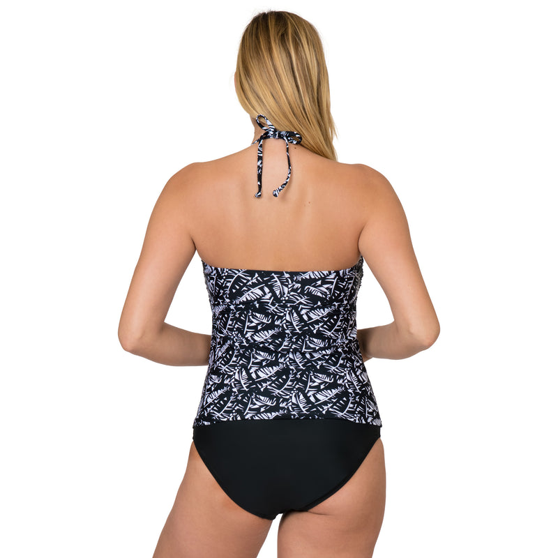On The Beach Women's Contemporary Print Bandini Tankini Swimsuit Set