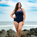 Women's Ruched Plus Size 1 Piece Swimsuit