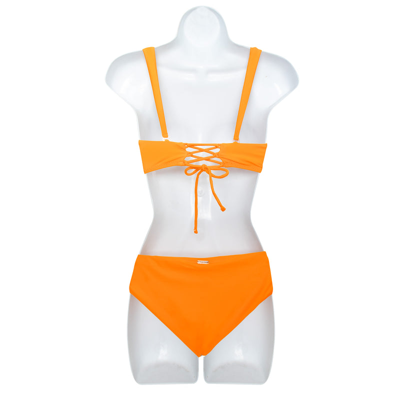 Raisins Junior Bandeau Mango Swimsuit Set