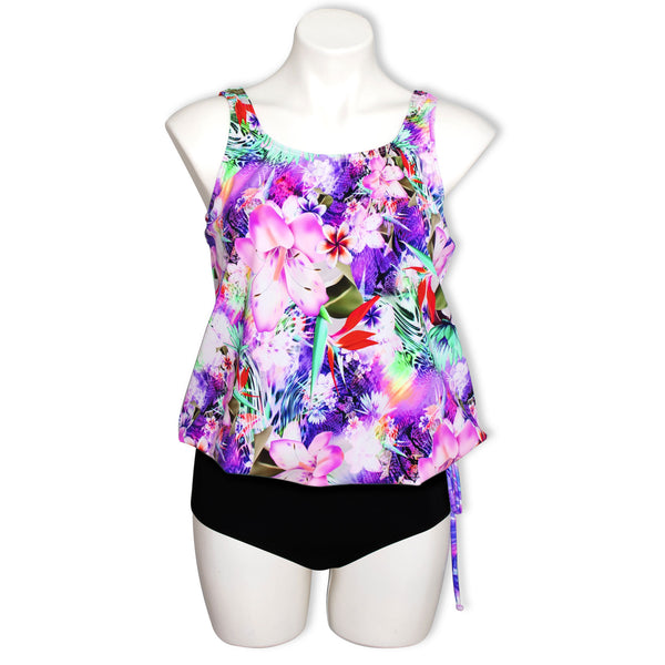 T.H.E Blouson Side Tie Tankini Top