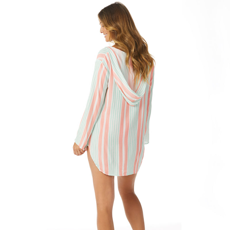 Raisins Coco Stripe Hooded Cover Up