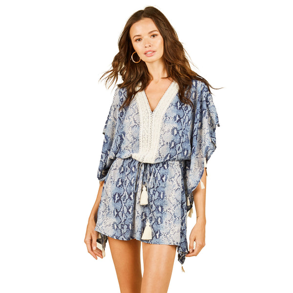 Surf Gypsy Front Tie Snakeskin Cover Up