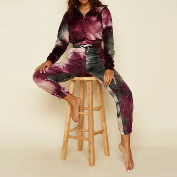 Dippin Daisy's Wild Berry Tie Dye Weekend Pullover
