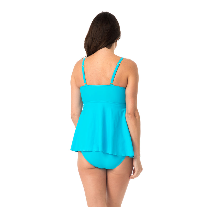Women's Fly Away Tankini Top with Brief Bottom