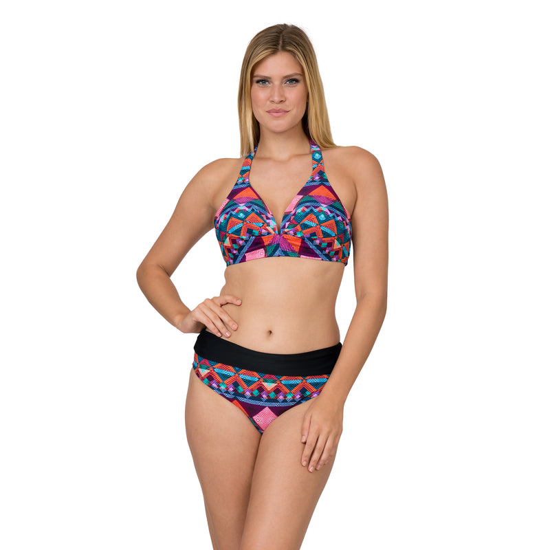 Sol Collective Women's Aztec Stripe 2 Piece Swimsuit Set