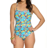 Women's Multi Floral 1 Piece Swimsuit