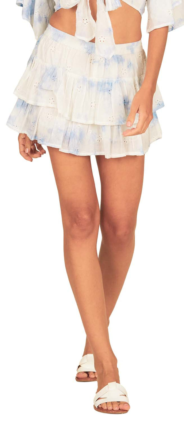 Surf Gypsy Elastic Waist Layered Skort