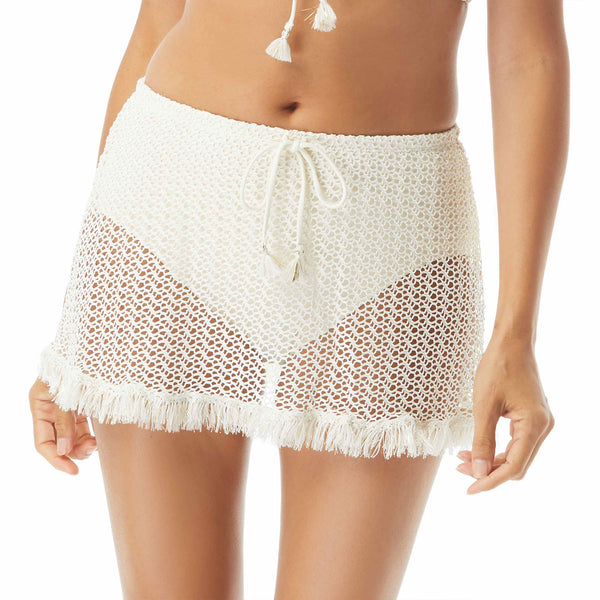 Coco Reef Ivory Crochet Skirt Bottom