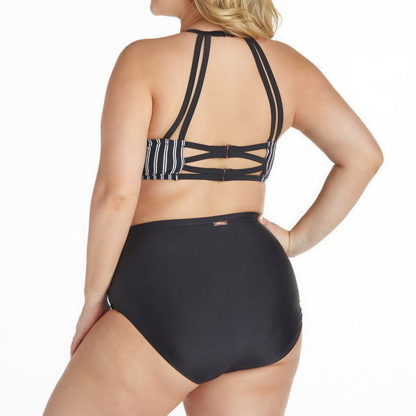 Raisins Women's Plus Size Del Mar Stripe 2 Piece Swimsuit Set