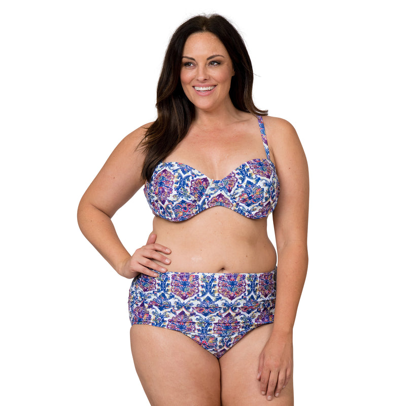 Nicole Miller Women's Plus Size 2 Piece Swimsuit Set with Underwire