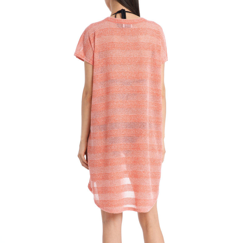Jordan Taylor Women's Pullover Striped Cover-Up Dress