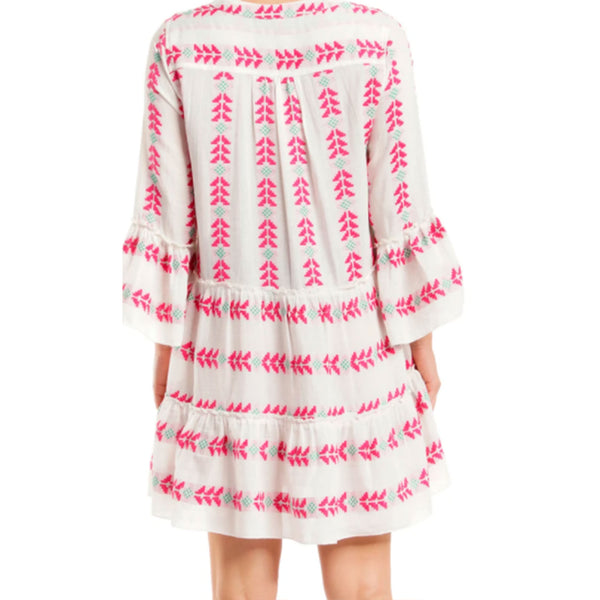 Elan Dress Midi V Neck Cover Up