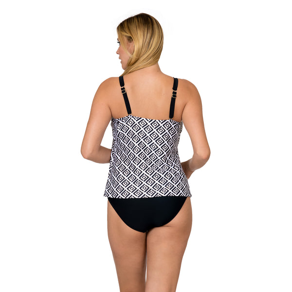 Sol Collective Women's Diamond Daze High Neck Tankini Swimsuit Set
