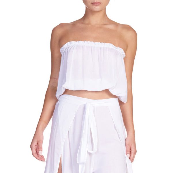 Elan Strapless Crop Top