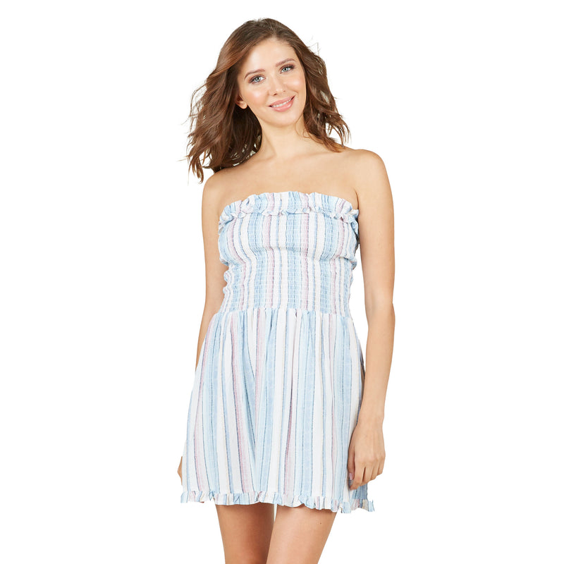 Ocean Drive Multi Striped Smock Dress