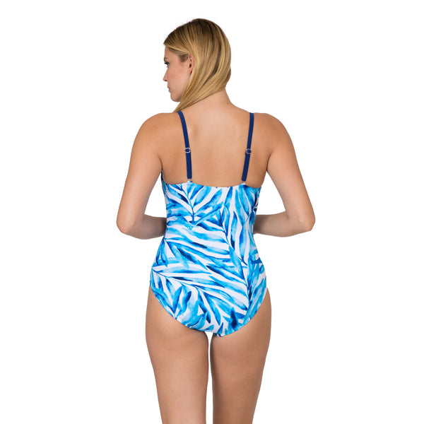Sol Collective Women's Painted Palm Push-Up 1 Piece Swimsuit