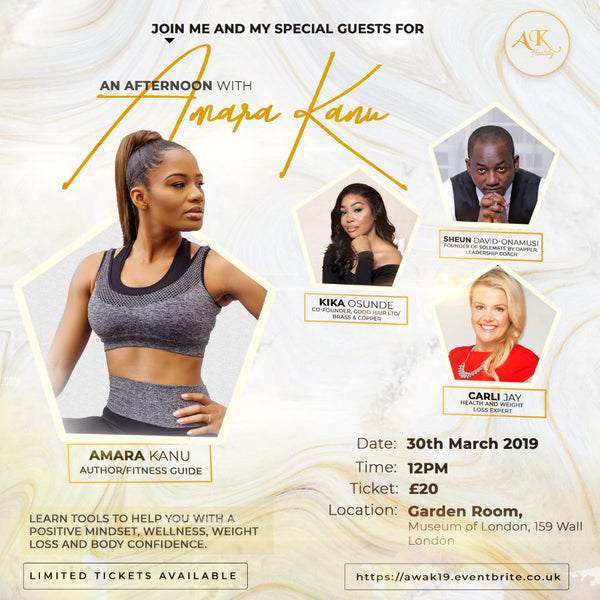 AN AFTERNOON WITH AMARA KANU (LONDON, MARCH 30TH, 2019)