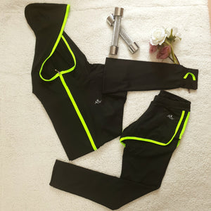 Quickdry ladies shorts/tights and jacket set