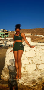 Emerald Bra & Shorts set