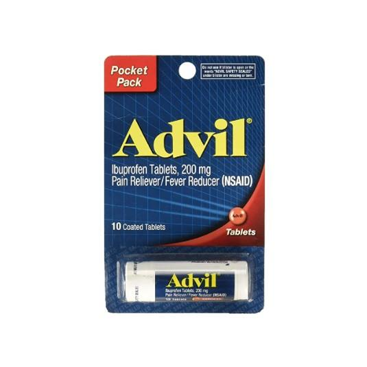 Advil Regular 10 Tablet Vial 10's