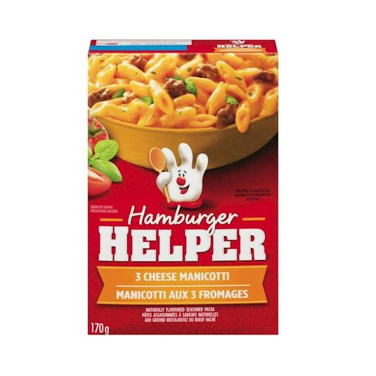 Betty Crocker Hamburger Helper Three Cheese Manicotti 170g