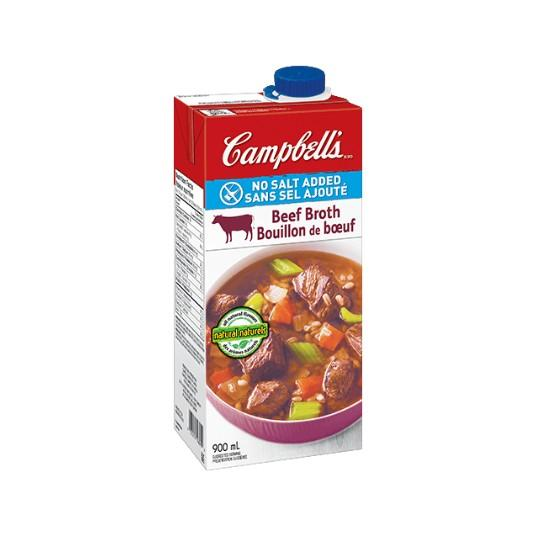 Campbell's Ready To Use No Salt Beef Broth 900ml