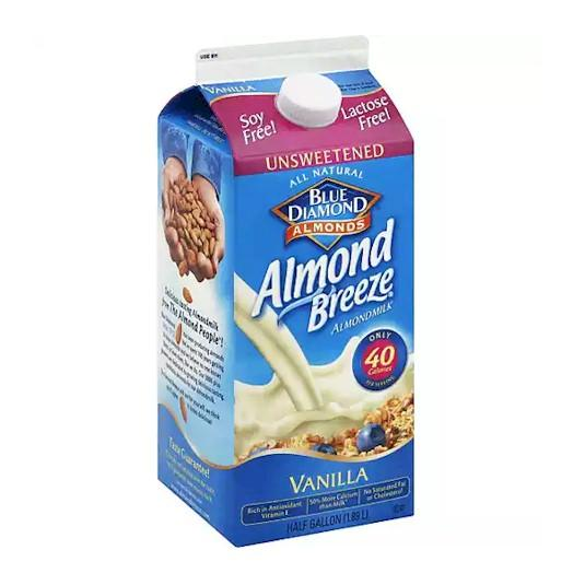 Almond Breeze Unsweetened Vanilla Almond Milk 1.89L