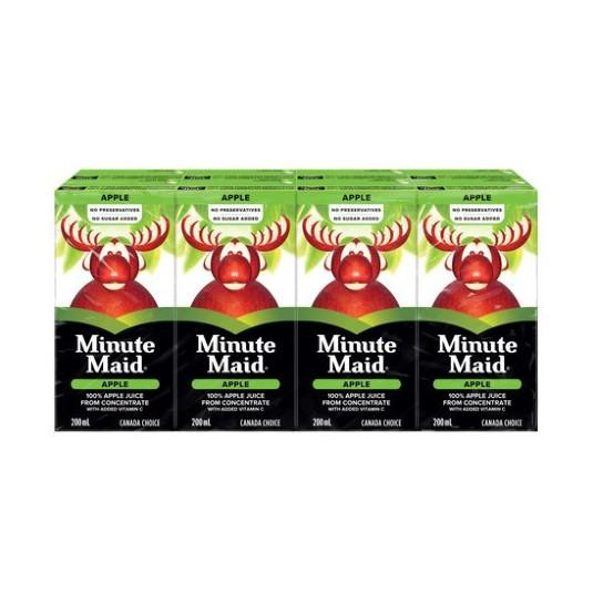 Minute Maid Apple Juice Tetra 8X200ml