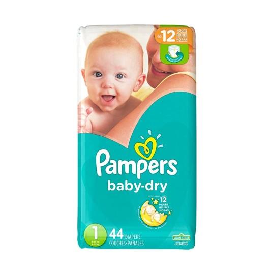Pampers Diapers Baby Dry Jumbo Size 1 44ct