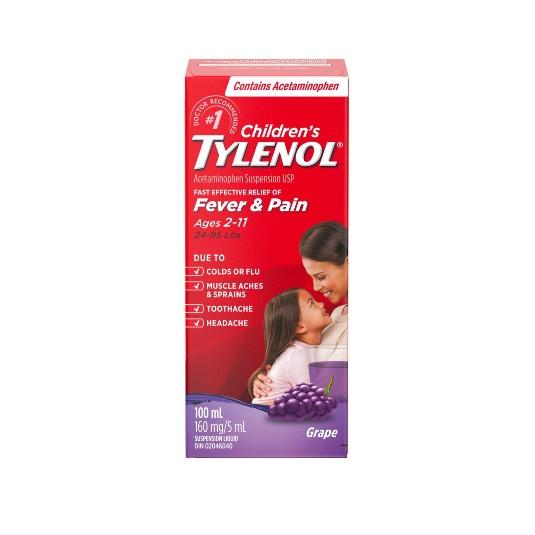 Tylenol Childrens Grape Liquid 100ml