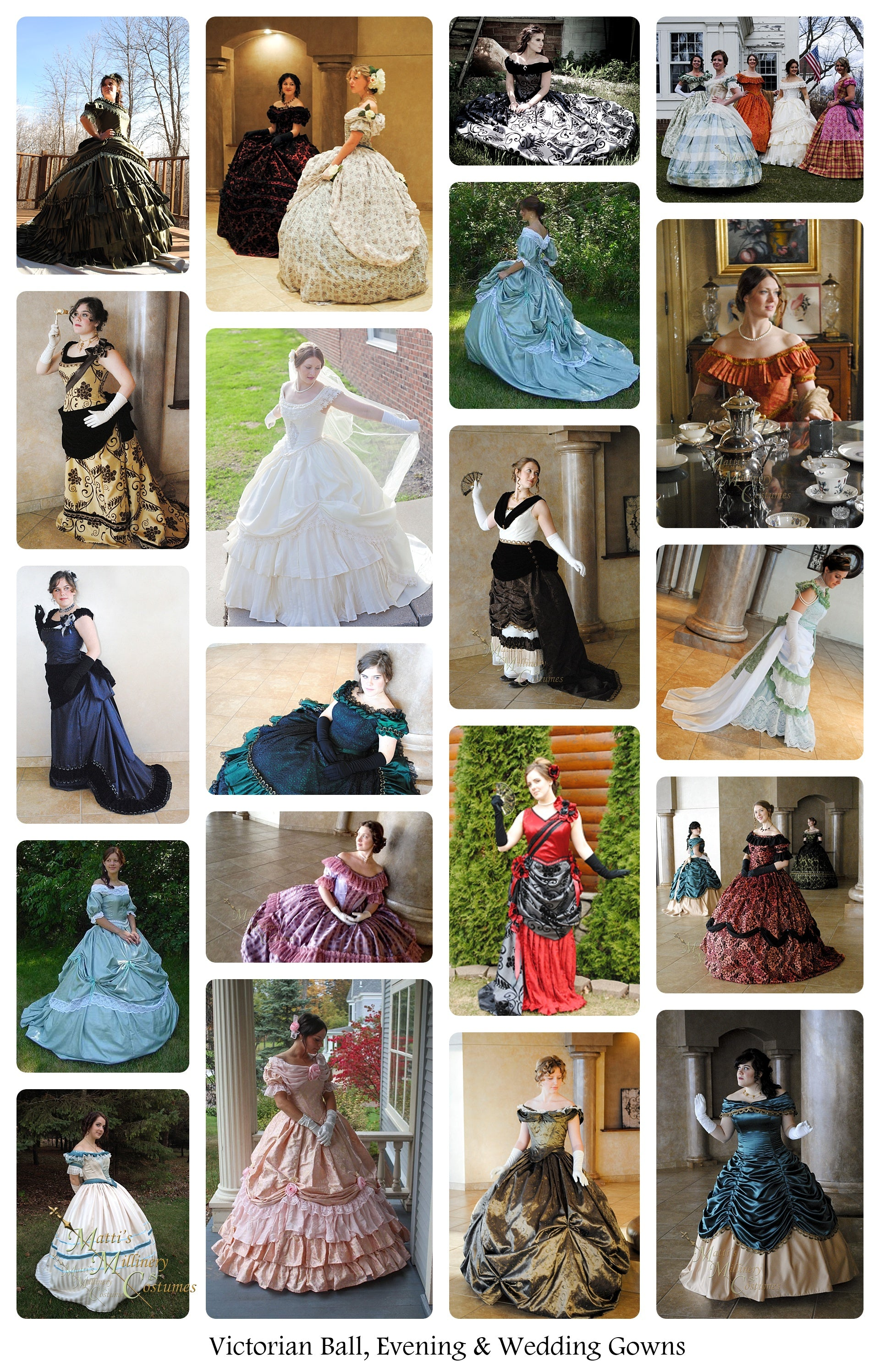 Victorian Ball, Evening and wedding gowns