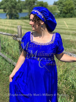 Load image into Gallery viewer, CUSTOM Regency Jane Austen Hat Muffin Cap Tam Beret Turban hairpiece Ball headpiece