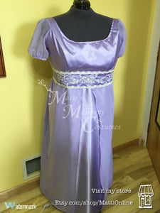 CUSTOM Regency Jane Austen Embroidered Gown Dress