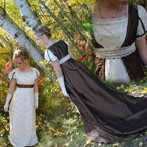 CUSTOM Regency Jane Austen Open Robe Over Dress Gown Pelisse